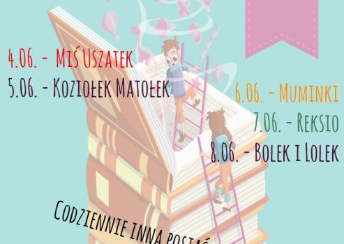 Miś Uszatek, Koziołek Matołek, Muminki, Reksio oraz Bolek i Lolek – goście naszego, bibliotecznego Tygodnia Czytania Dzieciom.