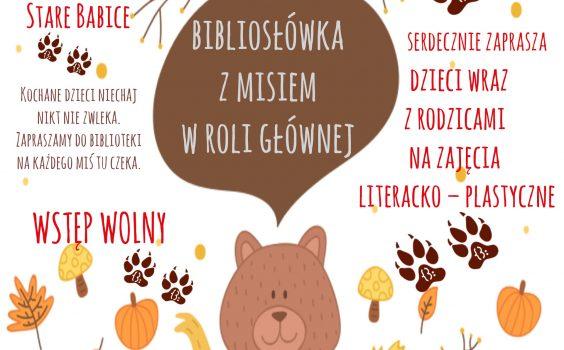 Listopadowe zajęcia literacko – plastyczne z cyklu BIBLIOSŁÓWKA /20 listopada br./