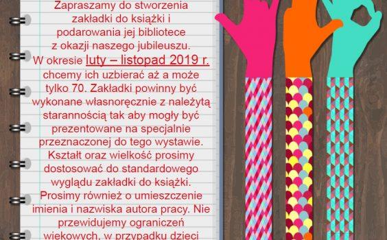 70 zakładek na 70 – lecie biblioteki.