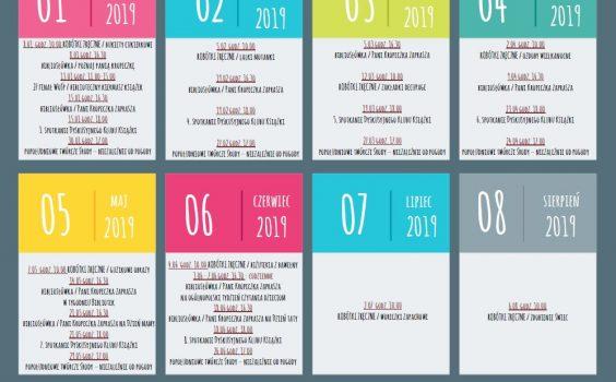 Aktualny kalendarz wydarzeń bibliotecznych na 2019 r.
