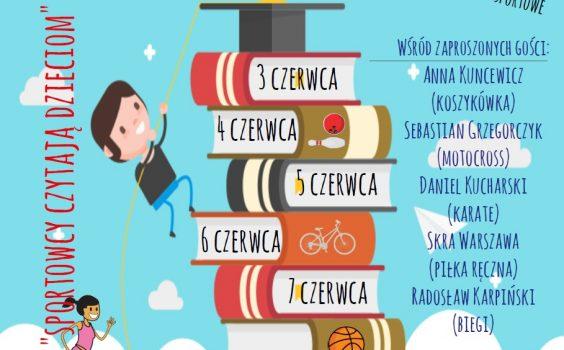 Biblioteka Publiczna Gminy Stare Babice we współpracy z Gminnym Ośrodkiem Sportu i Rekreacji Stare Babice serdecznie zaprasza do wspólnych obchodów XVIII Ogólnopolskiego Tygodnia Czytania Dzieciom.