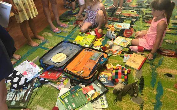 Spotkanie Bibliotekarki z bajkową walizką z dziećmi z Przedszkola Wesoły Brzdąc – 26.06.2019 r.