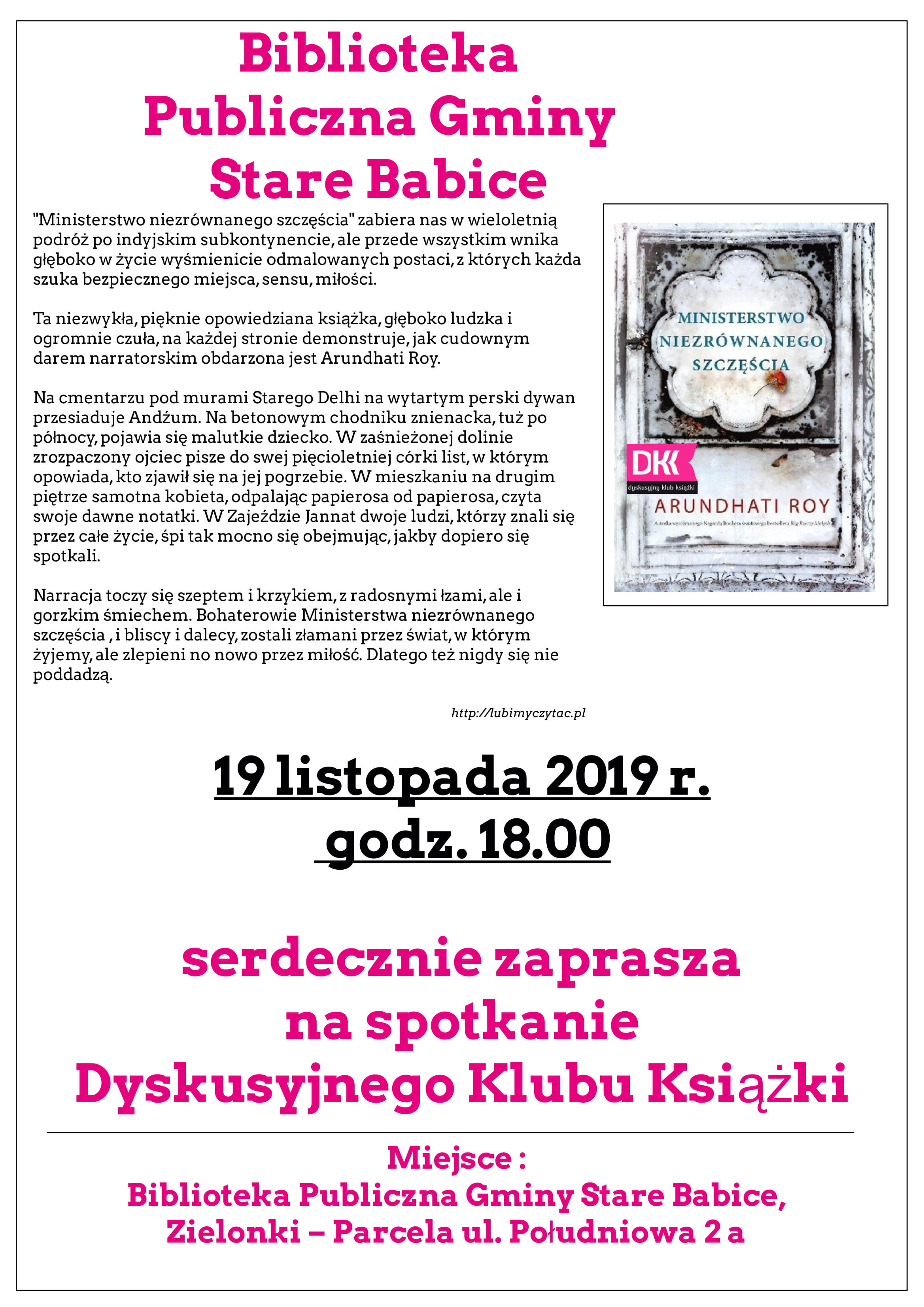 11. spotkanie Dyskusyjnego Klubu Książki