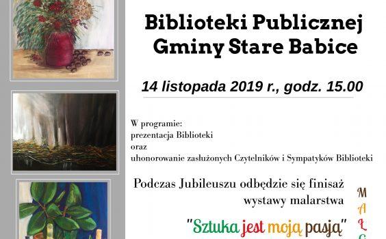 Jubileusz 70-lecia Biblioteki Publicznej Gminy Stare Babice!