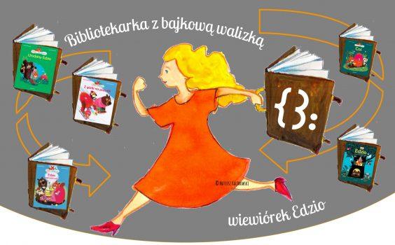Premierowe spotkanie z Bibliotekarką z bajkową walizką oraz z wiewiórkiem Edziem online.