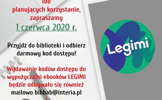 Kody w aplikacji Legimi.