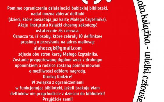 """Ważne informacje dla uczestników projektu """"Mała książka — wielki człowiek""""!"""