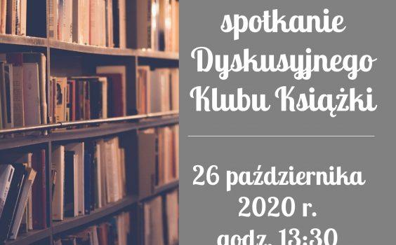 15. spotkanie Dyskusyjnego Klubu Książki – ODWOŁANE.