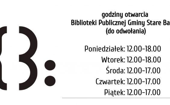 Uwaga! Nowe godziny pracy biblioteki dla Czytelników.