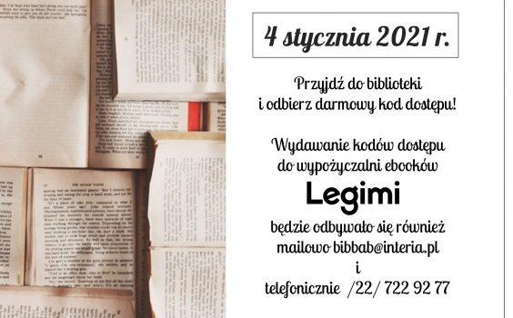 Legimi w 2021 r. – informacja dla Użytkowników.