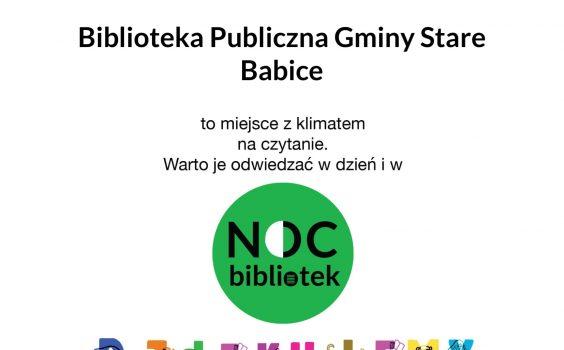 Dyplom za zaangażowanie w ogólnopolską akcję NOC BIBLIOTEK.