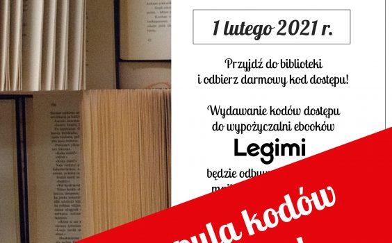Lutowe kody Legimi – pula kodów wyczerpana!
