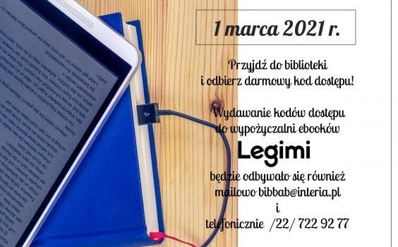 Nowe kody dostępu Legimi już 1 marca.