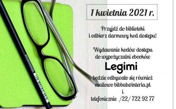 Nowe kody dostępu Legimi już 1 kwietnia.