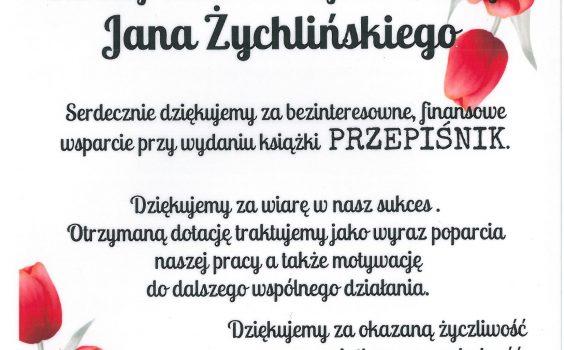 Zapowiedź PRZEPIŚNIKA – Podziękowanie dla Starosty Warszawskiego Zachodniego.