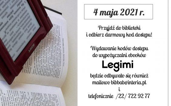 Nowe kody dostępu Legimi już 4 maja.